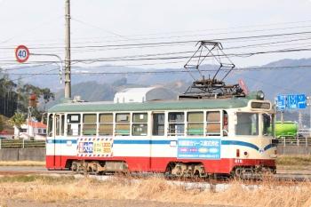 2020年12月12日 10時35分頃。小篭通〜長崎。615の(きっと)鏡川橋ゆき。