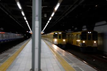 2020年12月19日。練馬高野台。右から、2089Fの上り回送列車、2077Fの5206レ、20102Fの4103レ。