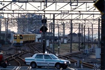 2020年12月21日 6時45分頃。所沢。2503Fは6番線で折り返し、下り回送列車として西所沢駅へ向かいました。