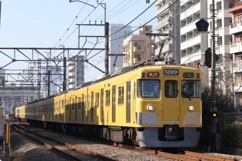 2020年12月28日。高田馬場〜下落合。2401F+2003Fの2658レ。