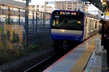 2020年12月29日 7時14分頃。武蔵小杉。E235系1000番台の千葉ゆき604S。