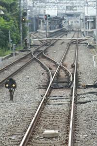 2013年7月13日、東長崎を発車した下り列車の最後部から。