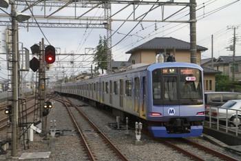 2013年9月14日、西所沢、1番ホームから発車した7302レの横浜高速鉄道Y516F(19K運用)。
