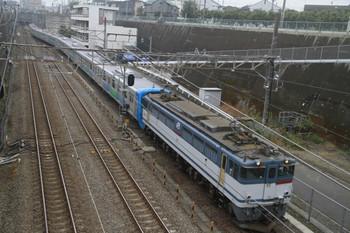 2013年11月10日 9時26分頃、新秋津、側線に入るEF65-2060+西武30102Fの貨物列車。
