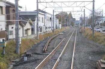 2013年12月8日、国分寺~一橋学園、下り列車最後部から本町信号所付近を撮影。