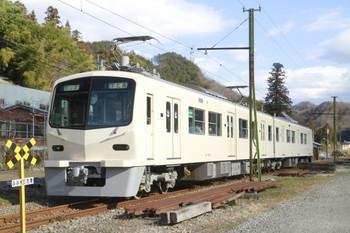 12014年1月2日、千平~下仁田、クモハ7001+クハ7501の21レ。