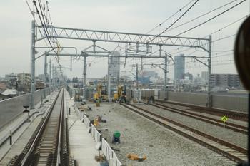 2014年1月25日、石神井公園駅の電留線の先端部分、下り列車先頭部から。