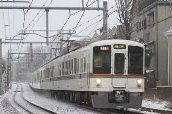 2014年2月8日 7時8分頃、池袋~椎名町、4011F+4009Fの1001レ。