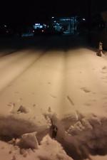 2014年2月15日 5時10分頃、元加治駅池袋方の踏切から