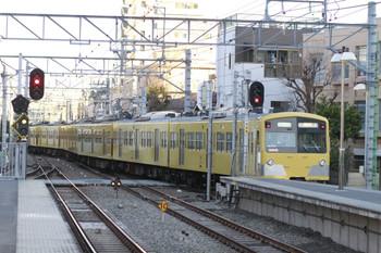 2014年3月15日 6時26分頃、東長崎、4番ホームから発車した3009Fの下り回送列車。