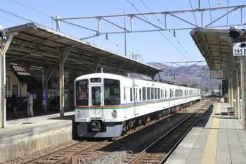 2014年3月22日 10時2分、秩父鉄道 大野原、西武4003Fの各停 長瀞ゆき(S4列車)。