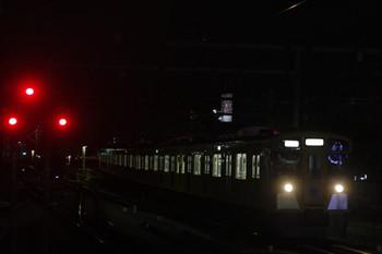 2014年10月14日18時21分頃、練馬、3番ホームに到着する9104Fの上り回送列車。