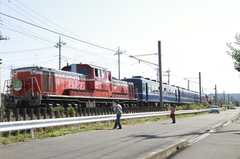 2014年10月18日 10時8分頃、金子~東飯能、八高線全線開通80年記念臨時列車。