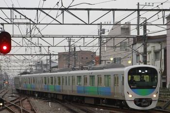 2014年10月31日、小平、引き上げ線から1番ホームへ進む38110Fの臨時列車。