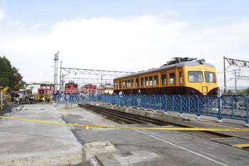 2014年11月8日、横瀬、野天で展示の保存車両。