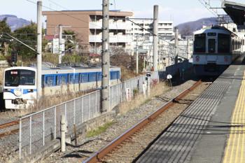 2015年1月3日、西武秩父(御花畑~影森)、6002Fの急行「開運3号」。