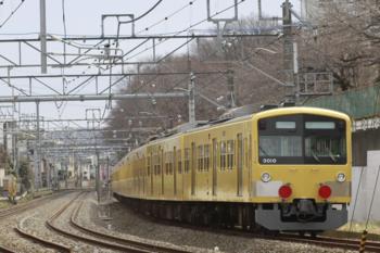2015年2月9日 11時3分頃、所沢~新秋津、263Fに牽引され発車した3009F。