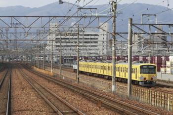 2015年2月10日 10時50分頃、京都貨物駅、コンテナホーム横で折り返しを待つ3009F。