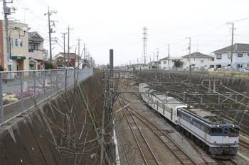 2015年4月4日 13時47分ころ、新秋津、発車したEF65-2090+1247F。