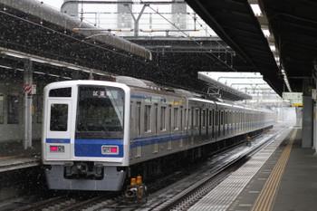 2015年4月8日 12時8分ころ、武蔵藤沢、6156Fの下り試運転列車。
