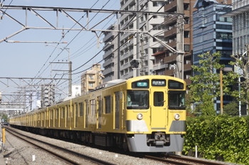 2015年4月30日、高田馬場~下落合、4608レの2515F+2019F。