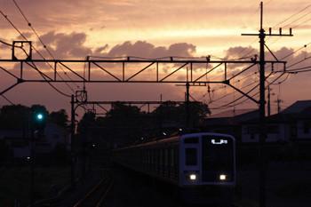 2015年6月3日 18時58分頃、元加治、6113Fの上り回送列車(77S運用)。