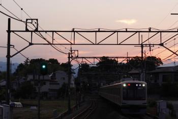 2015年6月10日 18時58分ころ、元加治、東急5122Fの上り回送列車(77S運用)。