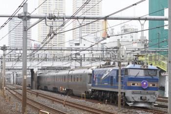 2015年9月6日 9時23分頃、鶯谷、EF510-513牽引の上り「カシオペア」。