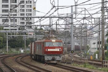 2015年9月29日 12時2分頃、新大久保、EH500-66ほかの南行コンテナ貨物列車。