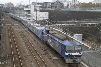 2015年12月13日 8時49分頃、新秋津、西武38117FがEF210-169に牽引され到着。