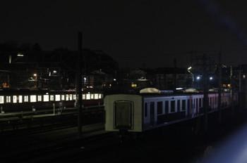 2015年12月15日 19時ころ、小手指車両基地、洗浄線横に留置される38417~38117。