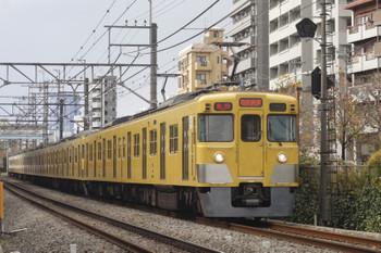 2015年12月17日、高田馬場~下落合、2413F+2001Fの2664レ。