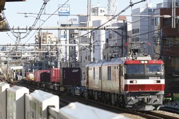 2015年12月29日 11時54分ころ、駒込、EH500-6牽引のコンテナ貨物列車。。