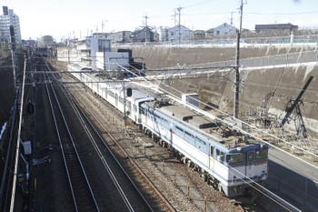 2016年1月24日 10時29分頃、新秋津、西武1253Fを牽引し到着するEF65-2089。