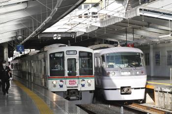 2016年1月31日 8時47分頃、飯能、4番ホームから発車した4015Fの下り回送列車。