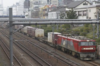 2016年3月6日 11時59分、目白、EH500-79牽引の山手貨物線南行きコンテナ列車。