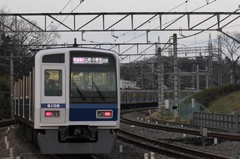 2016年3月19日、入間市、6108Fの1724レ(08M運用)。