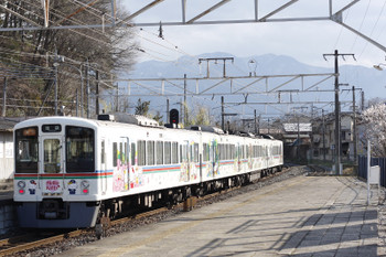 2016年3月21日、秩父鉄道・大野原、4015FのS5列車。