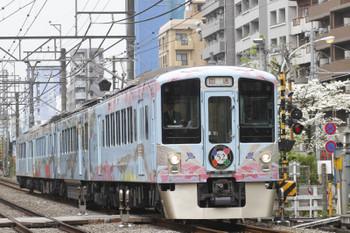2016年4月23日 10時37分頃、高田馬場~下落合、4009Fの上り回送列車。
