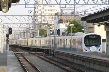 2016年5月1日 6時26分頃、東長崎、4番ホームから発車した38116Fの下り回送列車。