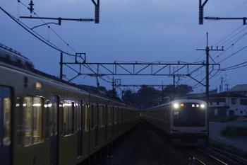 2016年7月25日 18時58分頃、元加治、東急4104Fが代走していた25S運用の上り回送列車。