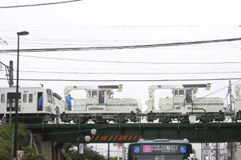 2016年8月28日 15時16分ころ、武蔵大和、駅から出てきたモーターカー三重連と1261F。