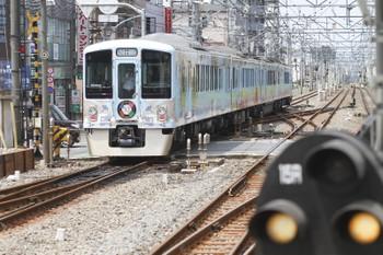 2016年8月11日 11時29分頃、清瀬、通過した4009Fの下り列車。