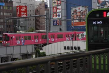 2016年9月7日、高田馬場、9101Fの4303レと山手線E235系。