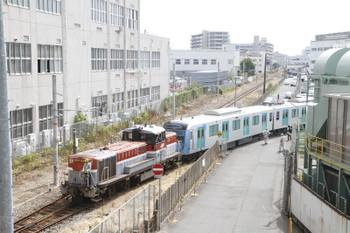 2016年9月9日 10時10分頃、川崎重工兵庫工場、DE10-1192が牽引し西武40000系2回目の出荷が発車。