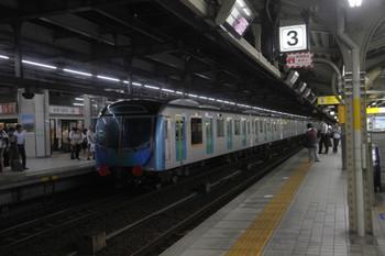 2016年9月9日 21時6分頃、名古屋、2番ホームを通過する西武40000系甲種輸送列車。