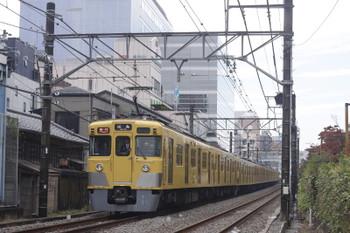 2016年11月1日、高田馬場~下落合、2325レの2411F+2005F。
