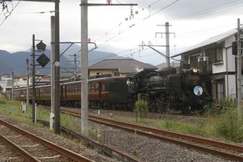 2016年9月25日 14時28分、御花畑~影森、熊谷ゆきのHM付きSL列車。