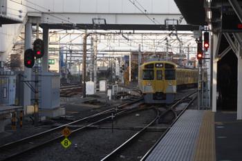 2017年1月19日 16時6分頃、所沢、4番ホームから発車した2087Fの上り回送列車(5313レの折り返し)。