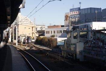 2017年1月24日、東長崎、留置されている保守用車両。